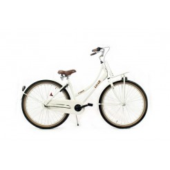 Bike Fun Load Cargo 24 inch meisjesfiets Wit Glans Nexus 3