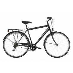 Excel Avenue Gents herenfiets Black 6SP