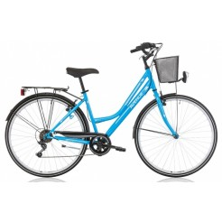 Excel Avenue Lady 28 inch damesfiets Blue 18SP