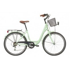 Interbike City Life 26 inch damesfiets Pastelgreen 6SP