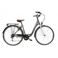 Interbike City Life 28 inch damesfiets Mat Grey 6SP