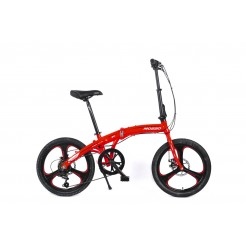 Mosso Marine Vouwfiets 20 inch Aluminium 2D 6v Red/White
