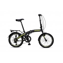 Mosso Marine Vouwfiets 20 inch Aluminium 6v Black/Lime