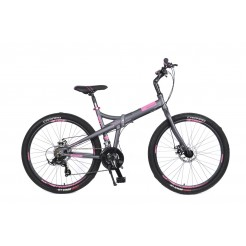 Mosso Marine Vouwfiets 26 inch Aluminium 2D 21v Grey/Pink