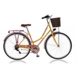 Paris Desire D45cm 26 inch transportfiets Orange/Mauve 6SP