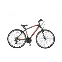 Umit Magnetic Trekking 28 inch herenfiets Black/Red